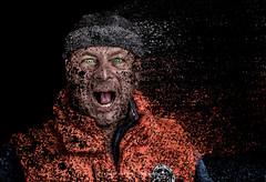 The return of Hulk (mr.wohl) Tags: hulk dispersion verschwinden portrait face strobist blitz green eye schwarzerhintergrund black