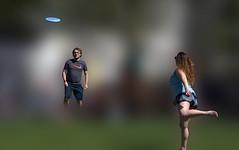 Consciousness (swong95765) Tags: awareness conscious woman man play blur bokeh aware mind action frisbee art myst mystical