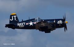 170311_043_TiCo_F4U (AgentADQ) Tags: tico warbird air show 2017 titusville florida airshow wwii fighter plane airplane aviation jim tobul korean war ace vought f4u4 corsair hero