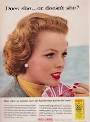 Miss Clairol 1958 (barbiescanner) Tags: vintage retro fashion vintagefashion 50s 50sfashion vintageads missclairol lindaharper