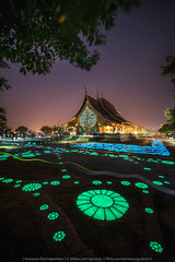 Flowers of the Night (KRW_GNS) Tags: ancient architecture art asia attraction background beautiful buddhism building church culture dark exposure faith famous glowing landscape light long night religion sky space star temple thai thailand travel