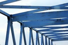 Blue Struts (AndyM.) Tags: canon eos 60d charleston southcarolina 55250mm brigde metal blue supports