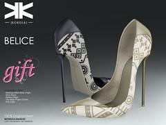 Belice Gift :: Woman Shoes :: Two Colors ({kokoia}) Tags: belice mesh kokoia slink high shoes shoe feet heel black pack maitreya eve themeshproject tmp stiletto gift virtual secondlfie 3d woman belleza