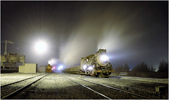 Standing Proud (Welsh Gold) Tags: js locomotives night shot dongbolizhan sandaoling xinjaing province china