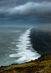 I can see for miles and miles (jeanineleech) Tags: dyrholaey iceland vik peninsula blacksand beach ocean view distance distant cloudy