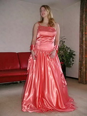 Cindy in orange (Paula Satijn) Tags: girl young lady blond blonde orange satin silk dress gown ballgown shiny skirt beauty gorgeous elegance feminine girly pretty class cute sweet glamour glamorous