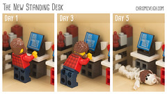 The New Standing Desk (powerpig) Tags: lego office standingdesk desk funny