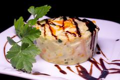 Cafetería Los Condes - Timbal con bálsamo de frambuesa