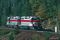 Time for Seconds (C.P. Kirkie) Tags: mccloud mccloudriverrailroad mccloudrailway mr signalbutte switchback mountshasta sd38 emd freighttrain