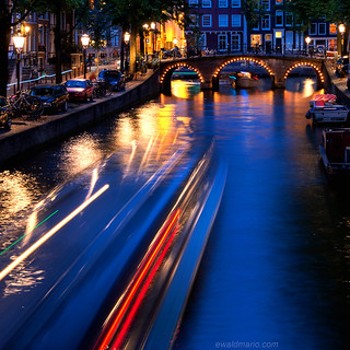 blue hour canal cruising
