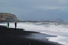 Vik the black beach (rafpas82) Tags: beach black volcanicsand sea waves tourists landscape waterscape iceland islanda panorama turisti sabbianera mare