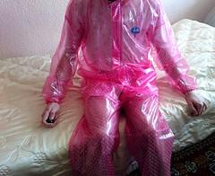 satinbed-5 (coatrPL) Tags: raincoat pvc rainwear fetish shiny przeciwdeszczowe rainsuit