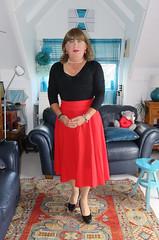 Red Skirts (Trixy Deans) Tags: crossdresser cd cute crossdressing crossdress classic classy cocktaildress corset tgirl tv transvestite transgendered transsexual hot highheels heelssexy