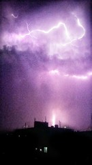 Thunderstruck! (tahar221b) Tags: thunderbolts thunder rain weather mobilephotography thunderstorm sky cloud purple purplesky nightlife stormnight