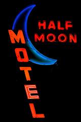 Half Moon Motel (Thomas Hawk) Tags: usa halfmoonmotel losangeles culvercity moon motel neon unitedstates california unitedstatesofamerica fav10 fav25