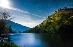 Moonlight on the Kings River (DF Shryock) Tags: moon night longexposure landscape moonlight river stream blue stars clouds sierranationalforest kingsriver ca tokina nikond5500 tokinaatx1420f2 hills