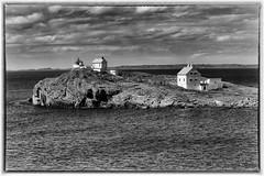 Fjøløy fyr B&W (©Jasmin Mehic) Tags: fjøløy lighthouse blackandwhite black white sea seascape landscape rogaland rocks norway jasminmehic