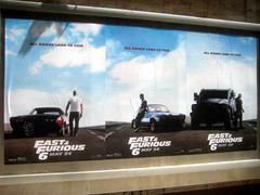 Fast and Furious 6 Billboard ADs  0220 (Brechtbug) Tags: new york city nyc urban 6 cinema cars up car racecar work painting movie poster square this drive smash paint theater driving all action crash near working fast racing billboard advertisement chase billboards worker roads em six lead herald furious 2013
