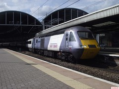 East Coast HSTs 43208 and 43316 at Newcastle (CoachAlex1996) Tags: eastcoast