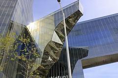 Marenostrum Tower (oxfordblues84) Tags: barcelona building window glass architecture spain catalonia catalunya modernarchitecture redroute enricmiralles benedettatagliabue barcelonabusturistic marenostrumtower gasnaturalfenosa mirallesandtagliabue