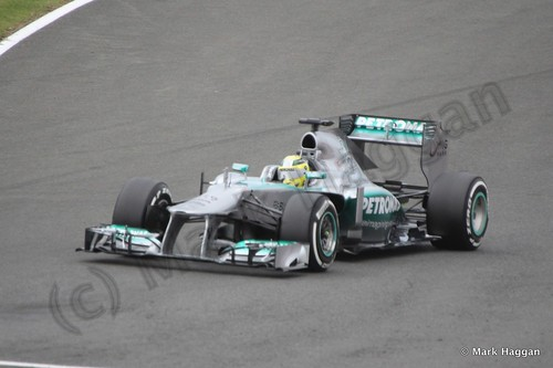 Lewis Hamilton in Qualifying for the 2013 British Grand Prix