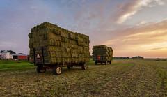 Summer on the farm- Caledonia, Wisconsin (JNickrand) Tags: sunset wisconsin farm tokina milwaukee trailer hay caledonia racine 1228