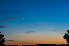 Venus & crescent moon (Nohrmal) Tags: sunset sky moon venus space crescent astrophotography planet astronomy