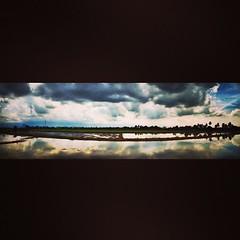 ข้างหลังบ้านของฉัน #landscape #sky #could #wide #salaya #thailand #home #me #hdr