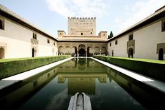 Granada Alhambra Reflection (Stuart Bland) Tags: reflection water mirror spain alhambra granada