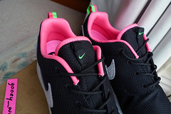 Nike Roshe Run x Size? Urban Safari Pack 'Black / Stadium Grey - Digital Pink - Poison Green' (511881 008) ('13). (gooey_wooey) Tags: urban sneakers trainers nike safari size pack kicks exclusive roshe rosherun