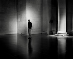 (donvucl) Tags: shadow bw london composition reflections interior figure tatebritain lightandshade donvucl