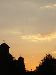 Crkva svetog Marka, Belgrade, Serbia (Predrag erkovi) Tags: park roof sunset tree cross serbia national belgrade parlament clowds crkva marka tamajdan svetog ta