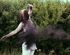 Powder rachel (Ice Badger) Tags: white black girl rachel paint explosion powder paintexplosion powderpaint