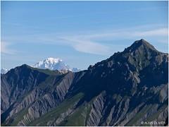 Mont Blanc et Grand Perron des Encombres depuis la Croix de Casse Massion