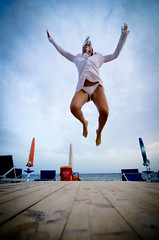 Super Jump! (Isabella Pirastu) Tags: sea woman beach girl donna jump jumping salto ragazza saltare