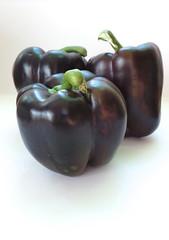 Chocolate peppers (fishbowl_fish) Tags: vegetables whitebackground exotic peppers veggies varieties