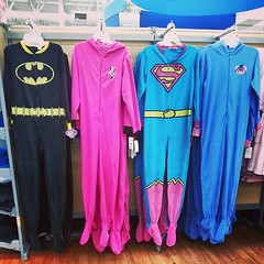 Adult footie pajamas... WITH CAPES! WIN. Well played, @WalMart.