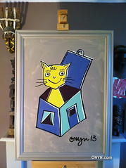 ONYN-01188 (ONYN Paintings) Tags: show street uk original urban copyright house streetart london art love home smile wall modern illustration cat wow wonderful painting children fun design fantastic whimsy funny colorful paint humorous folkart outsiderart gallery child bright box folk outsider contemporary originalpainting unique modernart paintings creative picture wallart humour pop canvas urbanart popart shoreditch license stunning present colourful bricklane brit oldstreet collect spitalfields britian whimsical genuine whimsey eastlondon greetingscard britart canvaspainting characterart artwhimsical onyn wwwonyncom onyncom paintingbuy artlicenseimage