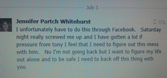 This Is From Jennifer Partch Whitehurst (JPW Accounting Service In Fair Haven Vermont) To A Friend Of Mine, What A Cowerdly & Game Playing Way To Use Someone & Break Off A Relationship After All He Did For Her-She's A User & A Player So Beware!! (heatherfitness11) Tags: ny haven vermont jennifer hunting fair tony deer chevy anthony service westport salerno accounting alderman moriah whitehurst partch jpw mineville jpwaccounting jenniferpartchwhitehurst jpwaccountingservice salarnobrothers jenniferpartch