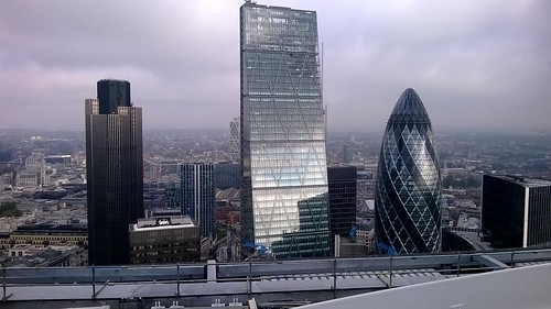 Tower 42, Cheese Grater and Gherkin from the Walkie Talkie