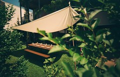 tente , garden party (OldLens24) Tags: sun grass garden bench de table soleil beige jardin tent banc tente gazon