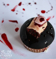 Zombie Buffet Cupcakes Toe (Avalon Cakes) Tags: halloween cupcakes scary toe yum gore horror gory severedtoe zombiebuffet