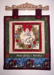 Panô de NATAL (*Sonhos e Retalhos Ateliê*) Tags: natal guirlanda feliznatal patch patchwork decoração tecido costura panô