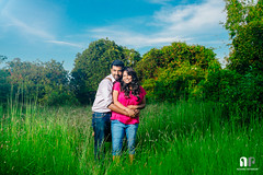 Parkala Portraits (travelling writer) Tags: portrait woman india couple outdoor nishant karnataka strobe udupi swapna dimpy parkala x100s