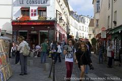 Montmartre Atmosphere (jean-marc rosseels) Tags: street paris france color colors canon candid streetlife streetscene montmartre streetcapture canon7d jeanmarcrosseels