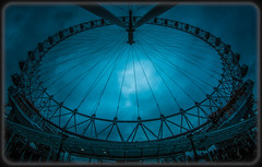 Blue Eye (Suggsy69) Tags: blue nikon londoneye wideangle fisheye fisheyelens lowpov d5200