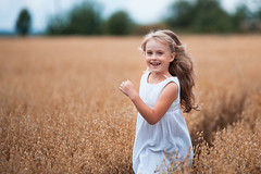 happy running girl on a oat field (TatyanaTitova) Tags: flowers autumn light summer portrait people cloud baby sun sunlight playing nature girl beautiful face field smiling yellow horizontal female fun outside happy person gold kid spring jumping healthy holding child dress cloudy outdoor wheat joy harvest meadow happiness sunny run rye blond casual joyful oat caucasian lifestyles