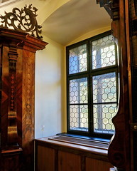 Baroque library window (elinor04 thanks for 24,000,000+ views!) Tags: old city building window architecture town wooden hungary interior library centre carving architect monastery ornaments historical baroque 1700s carmelite gyr carmelitefriar athanasiuswitwer athanasiuswittwer