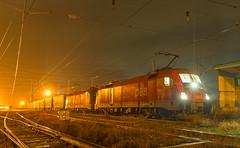 Good to go back (BackOnTrack Studios) Tags: electric night train u2 austria siemens rail cargo double container bulgaria locomotive taurus freight rca obb 255 259 1116 es64