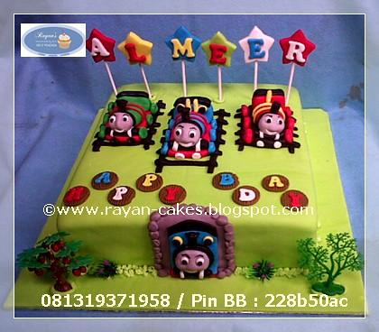 Awe Inspiring Thomas And Friends Birthday Cakes Fondant Kue Ulangtahun Jakarta Birthday Cards Printable Opercafe Filternl